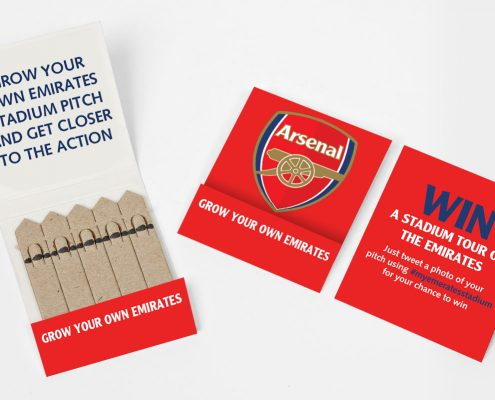 Arsenal Branded Matchbook Garden