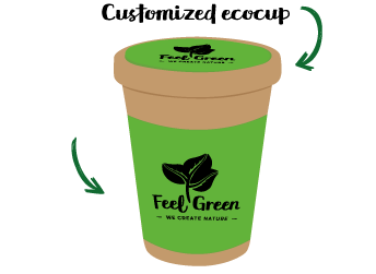 Customised Eco Cup - Plantable Coffee Cup made with seed paper