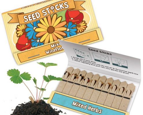 Seed Sticks - Matchbook Garden - Eco-friendly
