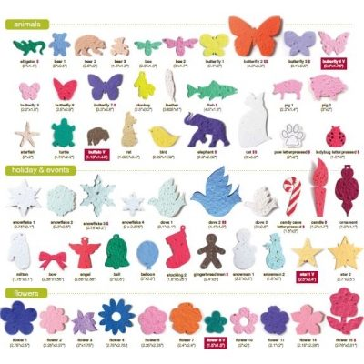 Custom shapes for Promotional Seed Paper