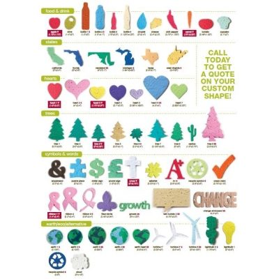 What custom shapes are Promotional Seed Paper available in?