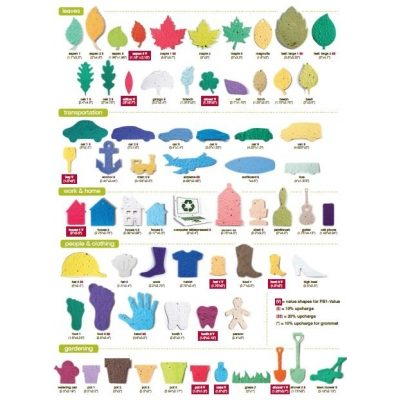What shapes are Promotional Seed Paper available in?