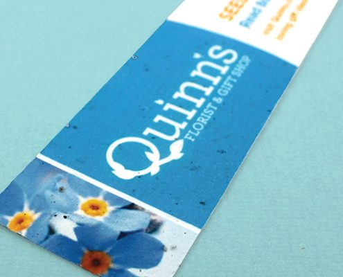 Custom Printed Seed Paper Bookmarks