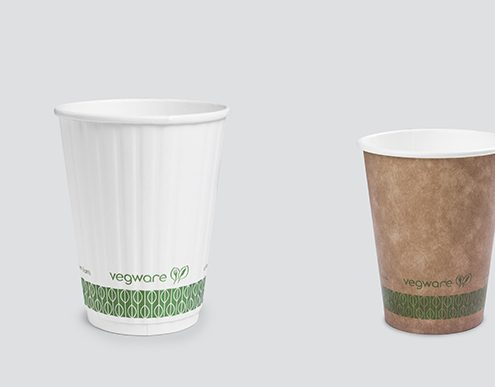 Vegware Compostable Print On Coffee Cups - Cup Sizes