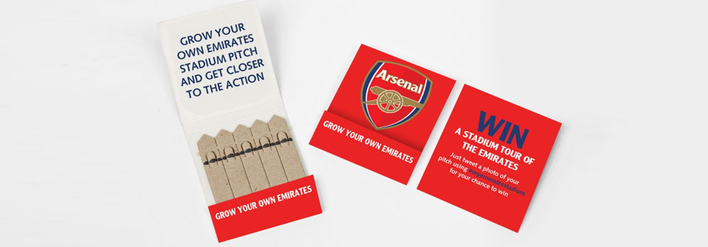 Arsenal Branded Seedsticks Matchbook Garden