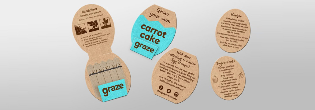 Graze Branded Matchbook Garden Seedsticks