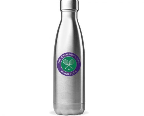 Branded Water Bottle - Stainless Steel - Wimbledon