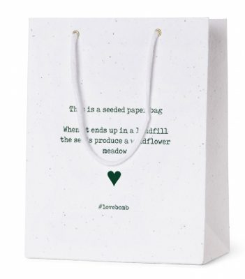 Seed Paper Carrier Bags - #LoveBomb