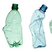 plastic pollution from water bottles