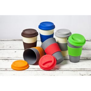 Bamboo Reusable Coffee Cups - range of colours for your business