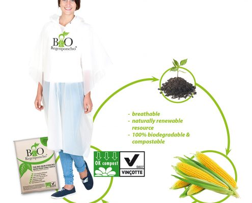 Biodegradable Poncho | Custom Printed Poncho