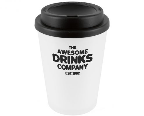 Branded Reusable Coffee Cup - Black