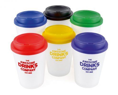 Branded Reusable Coffee Cup - All colours