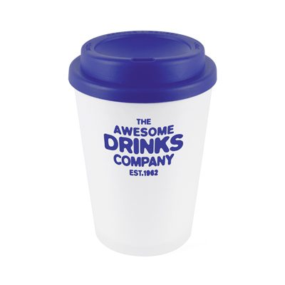 Branded Reusable Coffee Cup - Blue