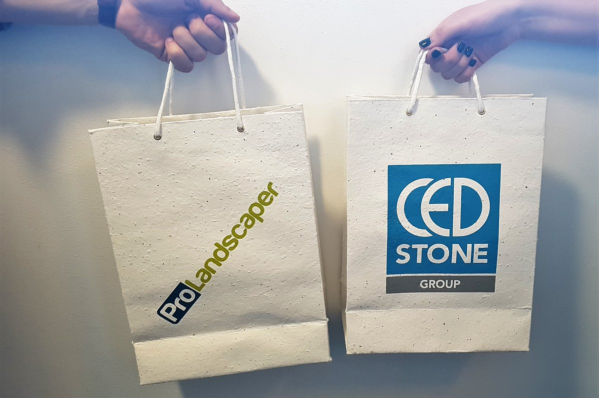 seeded paper carrier bags