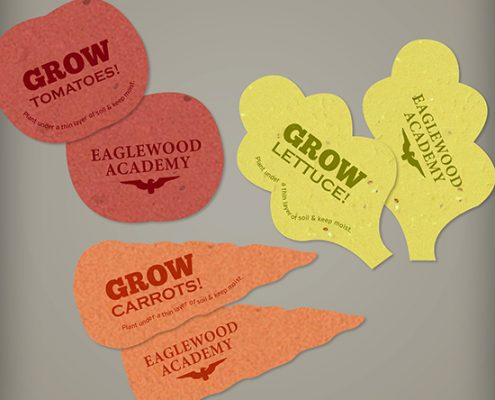 Seed Paper Shapes - Veggies