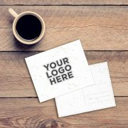 Seed Paper Postcard - add your logo here text