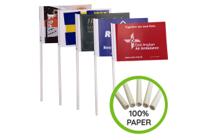 Recycled Paper Flags - Custom Printed