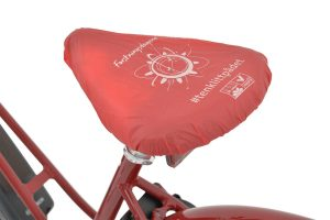 Biodegradable Bicycle Seat Cover - Red