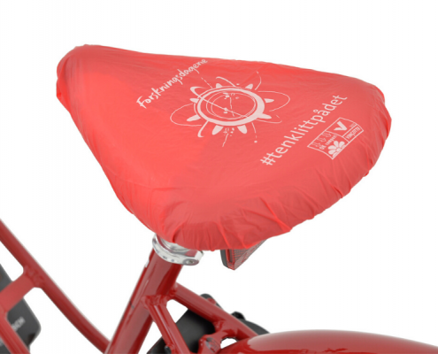 Red Biodegradable Bicycle Seat Cover