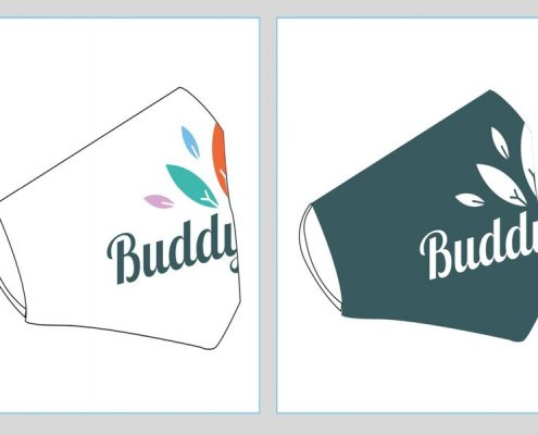 Face Masks Printed With Business Logo