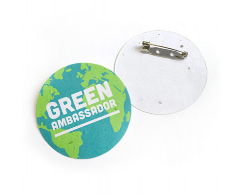 Promotional Button Badges made from Seed Paper