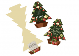Corporate Christmas Cards with Christmas Tree Seeds